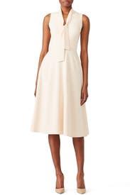 Cream Carolina Dress by Black Halo
