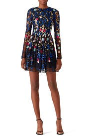 Embroidered Mesh Dress by Badgley Mischka