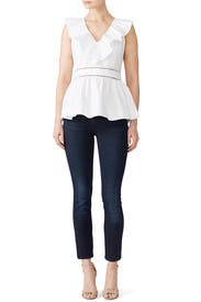 Ruffle Neck Top by kate spade new york