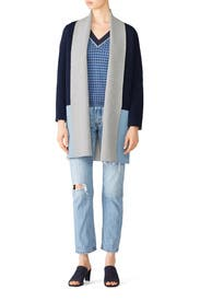 Colorblock Romare Cardigan by DREYDEN