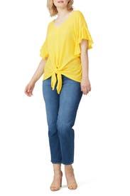 Yellow Tie Front Top by Rachel Rachel Roy