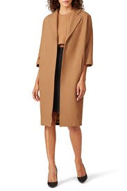 Colorblock Overcoat by Toccin