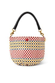 Fifi Mini Woven Top Handle Bag by Clare V.