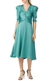 Ruched Front V-Neck Dress by Jonathan Simkhai