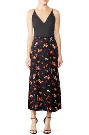 Keely Floral Midi Skirt by Vilshenko