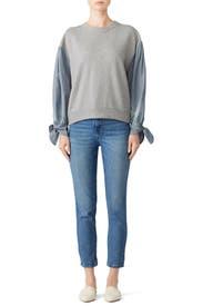 Knit And Stripe Sweatshirt by La Vie Rebecca Taylor