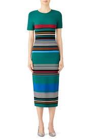 Striped Sweater Dress by Diane von Furstenberg