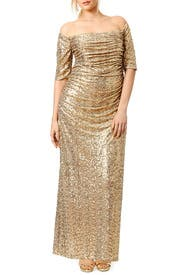 Gold Midnight Stars Gown by Badgley Mischka
