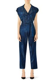 Retro Blue Jumpsuit by Carolina Ritzler