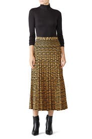 Tiger Knit Pleated Skirt by Proenza Schouler