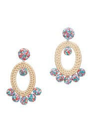 Spring Multi Panama Drop Earrings by Sachin & Babi Accessories