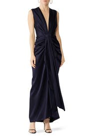Draped Plunge Gown by Sid Neigum