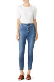 Natasha High Crop Skinny Jeans by J BRAND