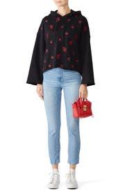Black Floral Sweatshirt by Philosophy di Lorenzo Serafini