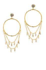 Sol Gemstone Drape Hoops by Gorjana Accessories