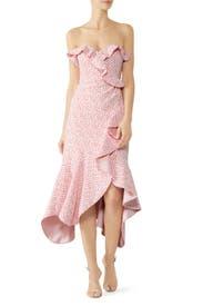Speckle Print Asymmetric Ruffle Dress by Jonathan Simkhai