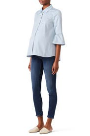 Blue Oxford Maternity Shirt by Slate & Willow