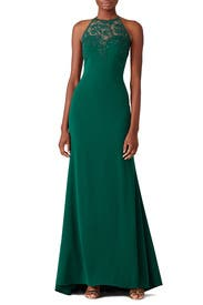 Emerald Lace Tyler Gown by Badgley Mischka