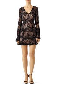 Black Scallop Lace Dress by Nicholas