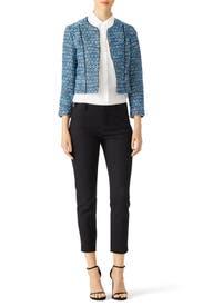 Blue Rylan Jacket by Diane von Furstenberg
