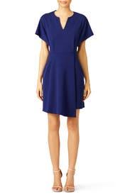 Navy Lustra Dress by Tibi