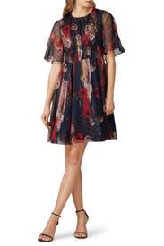 Printed Chiffon Dress by Jason Wu Collective