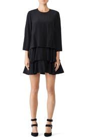 Long Sleeve Ruffle Dress by Jason Wu
