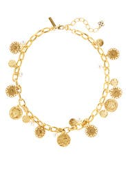 Gold Coin Necklace by Oscar de la Renta