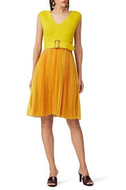 Belted Pleated Dress by Sachin & Babi