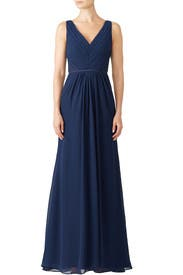 Navy Amalia Gown by Monique Lhuillier Bridesmaid