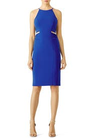 Cobalt Cut Out Sheath by Badgley Mischka