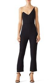 Black Tailored Jumpsuit by Cushnie