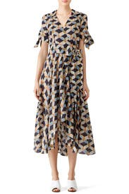 Printed Valerie Dress by Milly