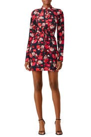 Floral Tie Shirtdress by SALONI