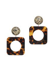 Geometric Puzzle Earrings by Tory Burch Accessories