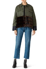 Fur Trim Field Jacket by Harvey Faircloth