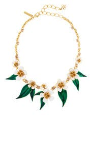 Delicate Flowers Necklace by Oscar de la Renta
