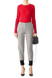 Red Haven Ribbed Sweater by Cynthia Rowley