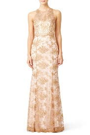 Gilded Blush Gown by Marchesa Notte