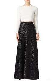 Black Cecilia Maxi Skirt by Slate & Willow