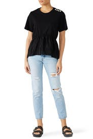 Pearl Shoulder T-Shirt by 3.1 Phillip Lim