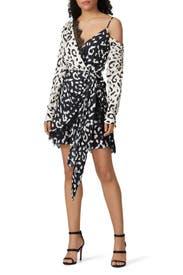 Leopard Printed Mini Dress by Self-portrait