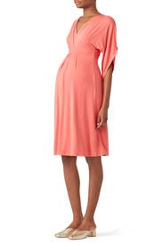 Coral Kimono Maternity Dress by Ingrid & Isabel