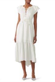White Amber Midi Dress by Sabina Musayev