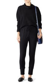 Black Brushed Joggers by B Collection by Bobeau