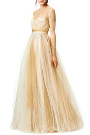Dipped in Gold Gown by Marchesa Notte