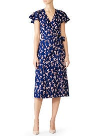 Floral Linen Wrap Dress by Draper James