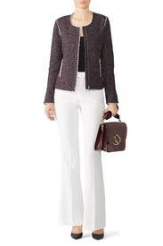 Burgundy Tweed Jacket by Slate & Willow