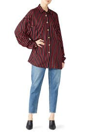 Oversize Stripe Shirt by The Kooples
