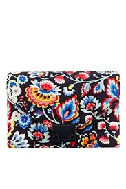 Dark Floral Lock Clutch by Loeffler Randall